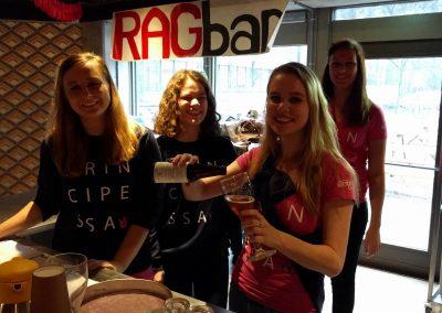 De RAGbar wordt gelijk goed gebruikt tijdens de barcontast tussen Principessa en Iuventus