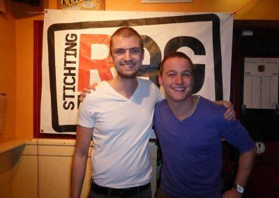 En hier de helden Steven en Tom na de scheerbeurt